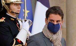 Gabriel Attal, porte-parole du gouvernement, le 7 octobre 2020 à Paris.