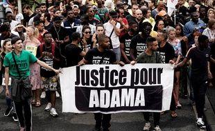 Une manifestation de l'association Justice pour Adama. (archives)