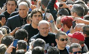 Bernard Laporte (au centre) dit ne pas craindre une éventuelle suspension.