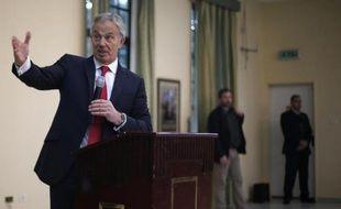 Tony Blair, ancien Premier ministre britannique, le 15 février 2015 à Gaza