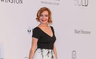 L'actrice Lindsay Lohan au Cap d'Antibes