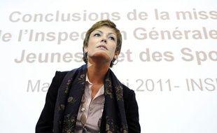 La ministre des Sports Chantal Jouanno, à l'Insep, le 10 mai 2011.