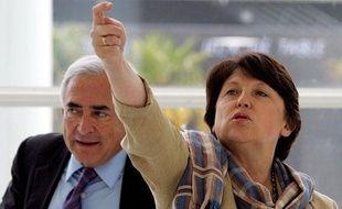 Dominique Strauss-Kahn et Martine Aubry le 6 mai 2006 à Bordeaux.