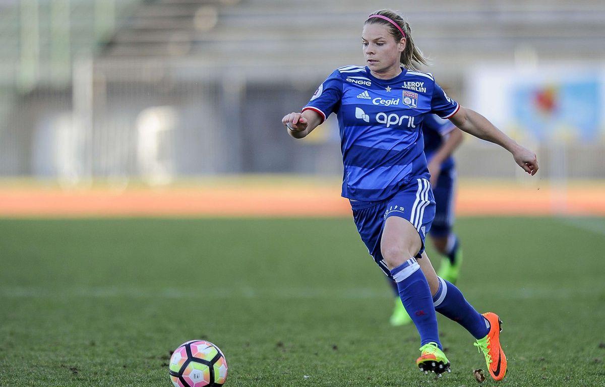 L'attaquante Eugénie Le Sommer a marqué au match aller contre Manchester City. – Coudert - SIPA