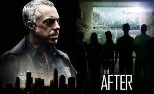 Des posters des séries «Bosch» et «The After», d'Amazon Studios.