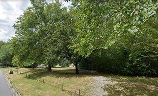L'espace vert des Bois-Blancs, à Lille, où a été retrouvé le corps.