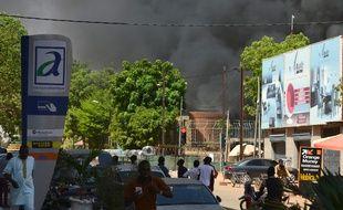 Une explosion a eu lieu dans le centre ville de Ouagadougou, au Burkina Faso, ce 2 mars 2018.