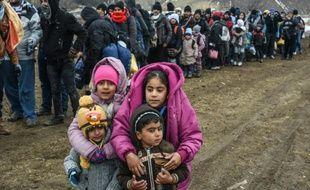 Des migrants et réfugiés venus de Syrie, le 26 janvier 2016.