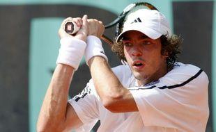 Le tennisman français Guillaume Rufin, lors de sa victoire au premier tour de Roland-Garros le 25 mai 2009