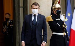 Emmanuel Macron, le 27 janvier 2021 à l'Elysée.