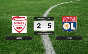 Nîmes - OL: L'OL bat Nîmes 2-5 à l'extérieur