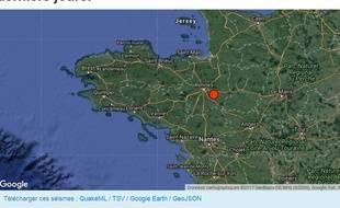 Capture écran du site http://renass.unistra.fr/ concernant le séisme survenu le 28 septembre 2017