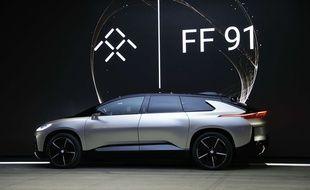 Faraday Future a présenté sa première voiture, la FF91, le 3 janvier 2017 au CES de Las Vegas.