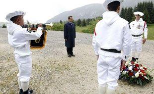 Nicolas Sarkozy, sur le plateau des Glières le 31 mai 2011, haut lieu de la Résistance en Haute-Savoie.
