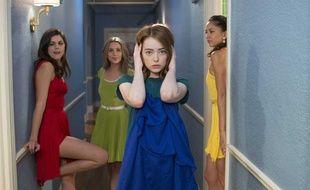 Emma Stone (robe bleue), dans «La La Land».
