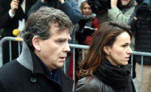 Arnaud Montebourg et Aurélie Filippetti le 15 janvier 2016 à Paris