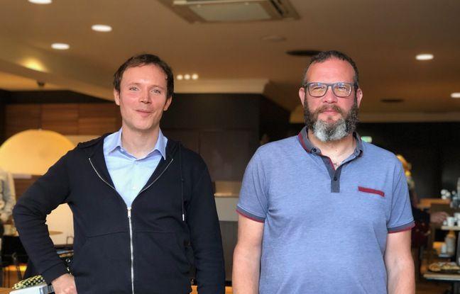 Thibaud Lebouvier, médecin neurologue (à gauche) et David Blum, chercheur en neuroscience à l'Inserm sont à l'initiative de l'essai clinique sur les effets de la caféine sur la maladie d'Alzheimer.