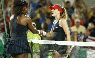 Serena Williams et Alizé Cornet aux JO de Rio, le 8 août 2016.