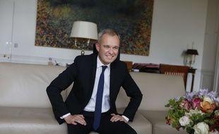 François de Rugy président de l'Assemblée nationale dans son bureau de la présidence hôtel de Lassay.