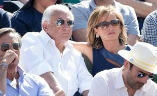 Dominique Strauss-Kahn et Myriam L'Aouffir à Roland Garros