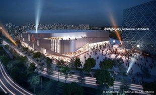 Le Crédit Mutuel Forum imaginé par le cabinet d'architectes Chabanne et partenaires.