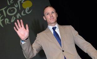 Christopher Froome lors de la présentation du Tour de France 2014 le 23 octobre 2013.