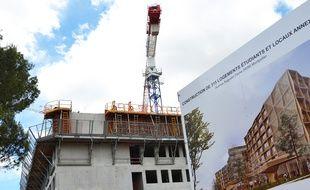 La résidence Triolet 2, en cours de construction à Montpellier.