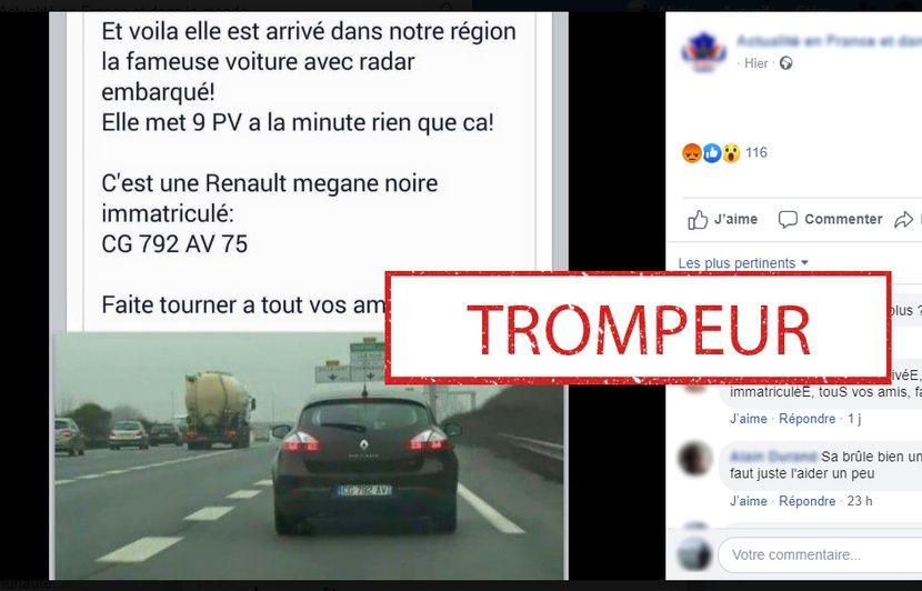 Non, cette Mégane n'est pas une voiture-radar qui vient de débarquer sur les routes françaises