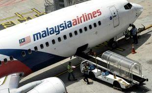 Un avion de la Malaysia Airlines sur le tarmac de l'aéroport de Kuala Lumpur, à 50 km au sud de la ville, le 25 février 2016