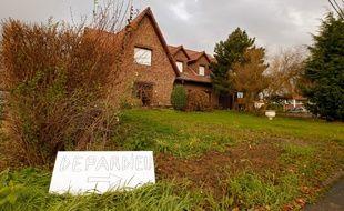 Nechin, Belgique, le 10 decembre 2012. L'acteur Gerard Depardieu a achete une maison dans ce petit village a la frontiere francaise.