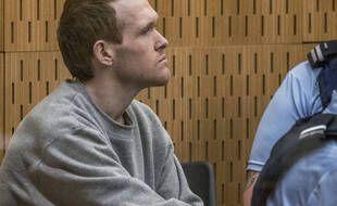 Brenton Tarrant, tueur des attentats de Christchurch, lors de son procès le 26 août 2020.