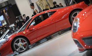 La 458 Italie de Ferrari au salon de l'automobile de Pékin en avril 2010.