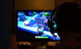 Illustration d'un gamer.