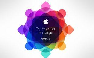 Le logo de la conférence WWDC 2015 d'Apple.