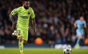 Daniel Alves lors du match entre Barcelone et Manchester City le 24 février 2015.