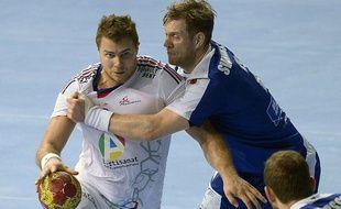 William Accambray face à l'Islande, le 20 janvier 2013 à Barcelone.