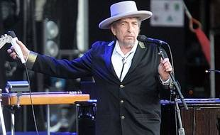 Bob Dylan, en concert à Carhaix, en France, en 2012.