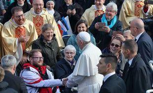 Le pape célèbre une messe à Tallinn, en Estonie, le 25 septembre 2018.