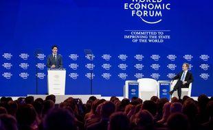 Le Premier ministre canadien Justin Trudeau au Forum économique mondial de Davos, le 23 janvier 2018.