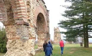 L'aqueduc romain du Gier, à Chaponost, près de Lyon.