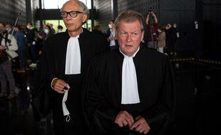 Thierry Fillion et Patrick Larvor, avocats d'Hubert Caouissin.