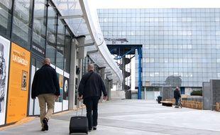 La passerelle de la gare de Rennes permet de relier le nord et le sud de la ville.
