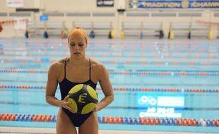 La nageuse française Laure Manaudou, lors d'un entraînement à Auburn, aux Etats-Unis, le 30 décembre 2011.