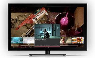 La nouvelle interface de Google TV, dévoilée le 28 octobre 2011.