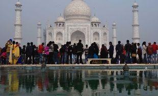 Le Taj Mahal, monument le plus visité du pays, le 3 décembre 2018, en Inde.
