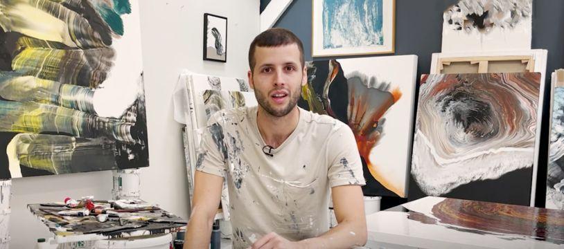 Silvère Jarrosson est tombé amoureux de la peinture, Brut.