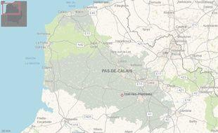 Commune d'Izel-les-Hameau, dans le Pas-de-Calais