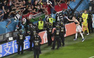 Fin de match pour l'équipe hongroise face à l'Allemagne, le 23 juin.