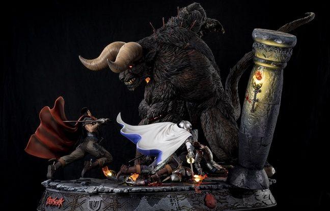 «Berserk», un diorama de près d'un mètre et pièce maîtresse du fabricant Tsume Art