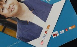 Le logo du MoDem sur les tracts de Martine Aubry